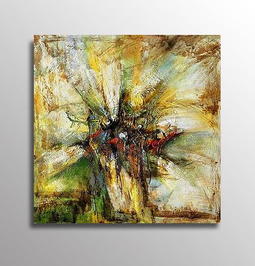 Abstrakt Oljemålning Sardinien