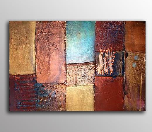 Abstrakt Oljemålning Aprilia