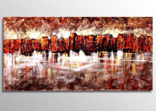 Abstrakt Oljemålning Tivoli
