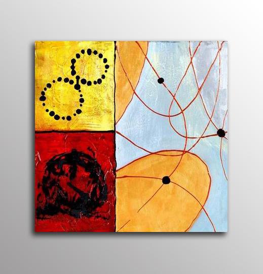 Abstrakt Oljemålning Carpi