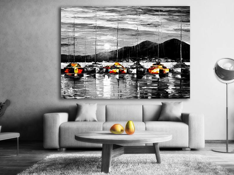 svart vit canvas