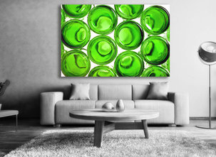 Gröna flaskor tavla