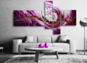 Abstrakt Oljemålning Purple Sky