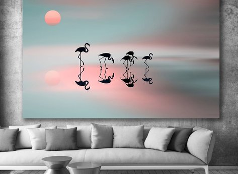 Photo Art - Flamingos