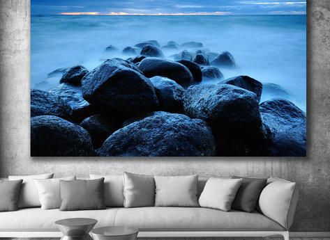 Photo Art - Blue Rocks