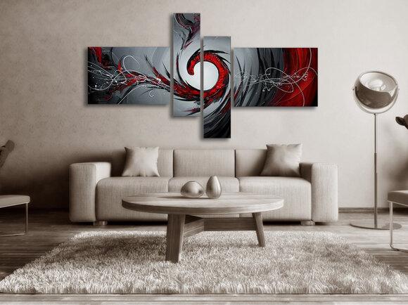 Abstrakt Oljemålning Red Hills