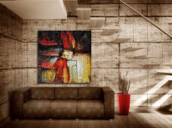 Abstrakt Oljemålning Ligurien