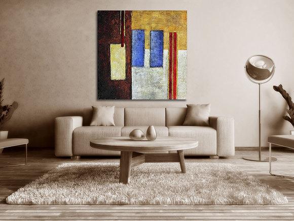Abstrakt Oljemålning Toscana