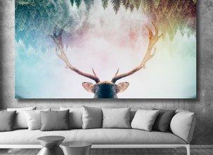 Ljuddämpande Tavla - Red Deer