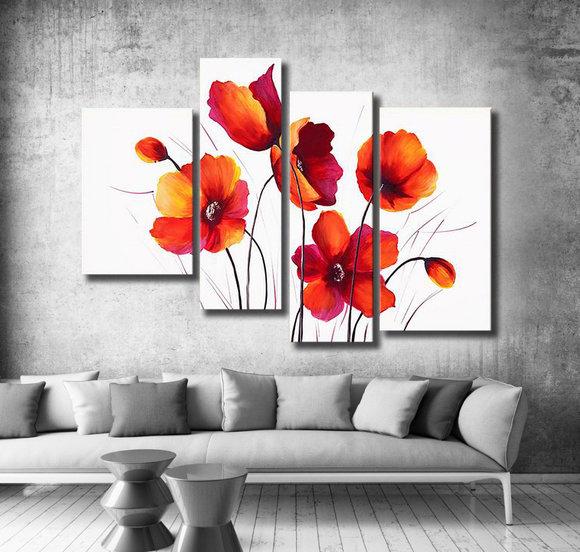 Flowers Red poppy meadow