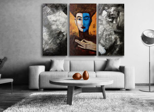 Abstract painting Mysterious