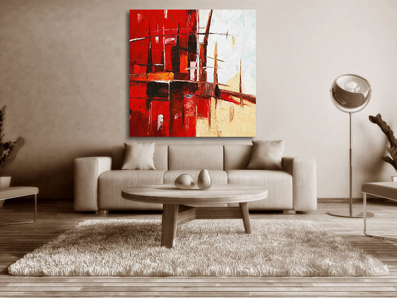 Abstrakt Oljemålning Pisa