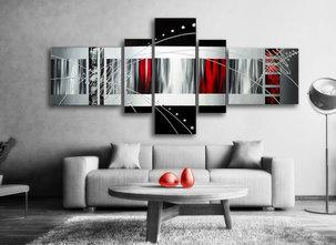 Abstrakt - Oljemålning - Red Fantasy