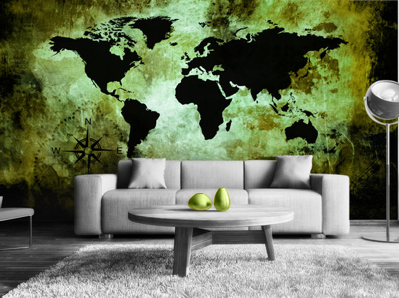 The world map Fototapet