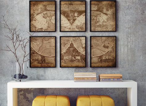 Canvas - Print - Map