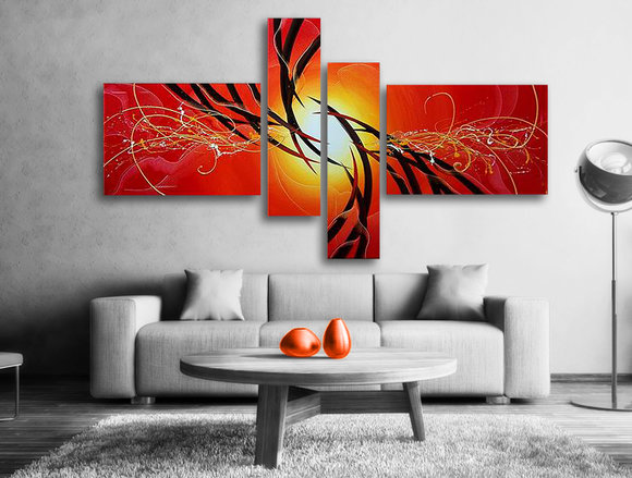 Abstrakt - Oljemålning - The Sun