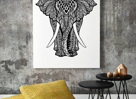 Photo Art - Elephant B&W