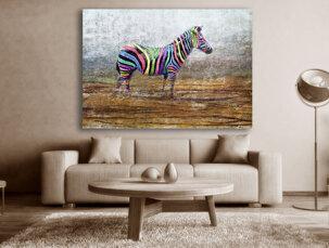 Zebra tavla - In Color