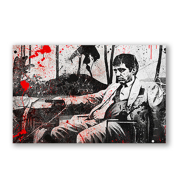"Scarface canvastavla ""Bloody"""