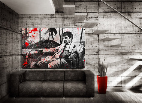 "Scarface Canvasprint  ""Bloody"""
