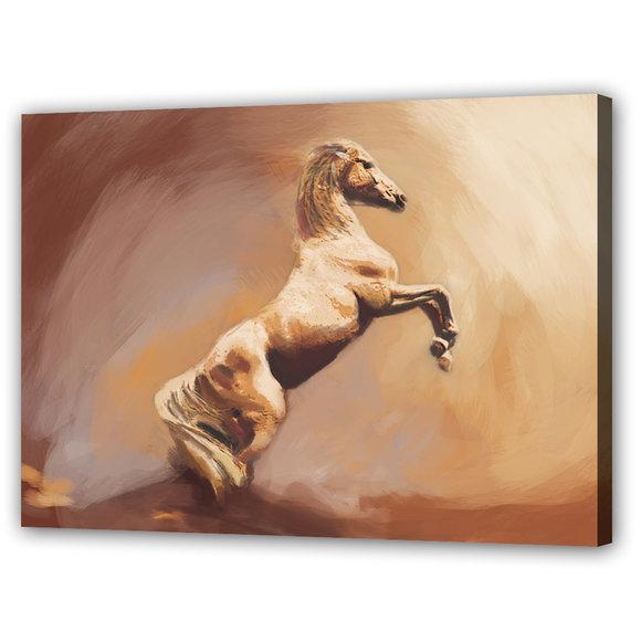 Tavla Vit Häst - Wild America
