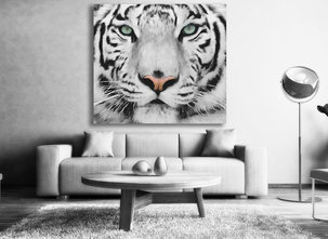 Vit Tiger tavla