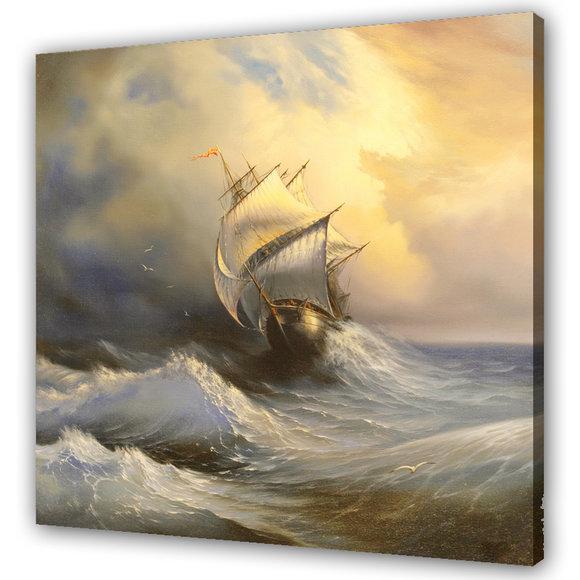 Vacker oljemålning - Storm