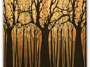 Abstrakt OIjemålning - Forbidden Forest