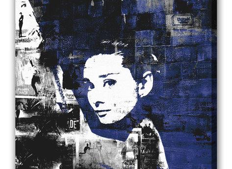 Audrey Hepburn Tavla - Blue