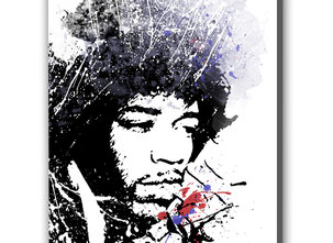 Handmålad Tavla - Jimi Hendrix
