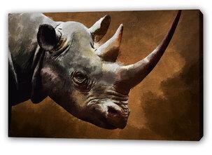 Noshörning Tavla -Rhino in the night