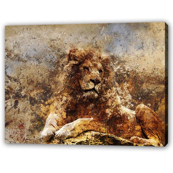 Lion Oljemålning