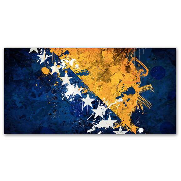 Bosniens Flagga - Bosnia and Herzegovina