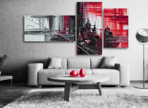 Abstrakt Red city