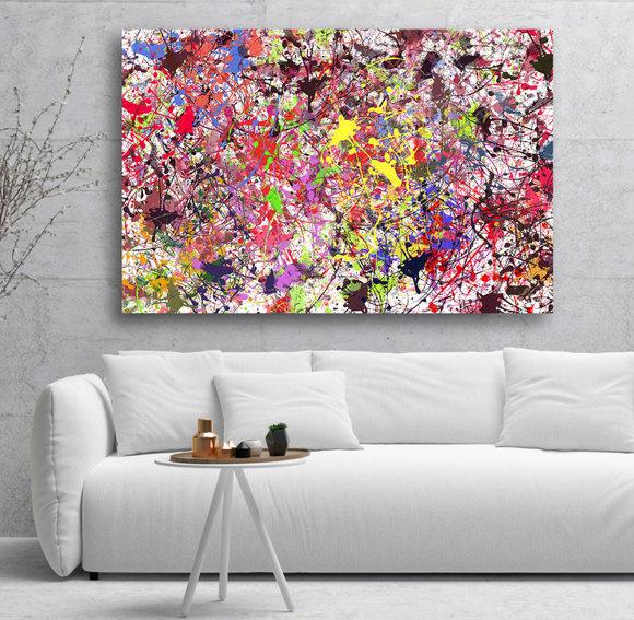 Lycka - Abstrakt Oljemålning