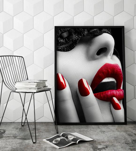 Poster  - Tavla - Kyss