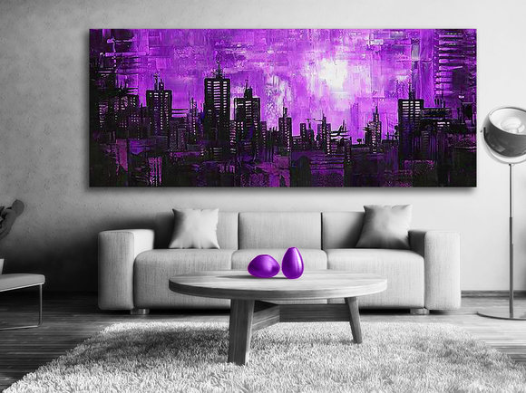 Abstrakt  Purple night