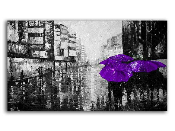 Violet Friday - Svart vit tavla