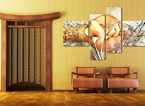 Blommor - Oljemålning - Gyllene Kalla