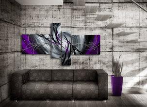 Handmålad Tavla - Mystic Purple - Lila Nyanser