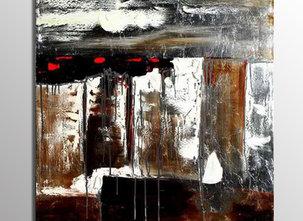Abstrakt Oljemålning Bordeaux