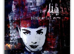 Dark Audrey Hepburn Painting