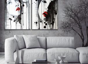 Giselle tavla - Underbart vacker tavla i två delar