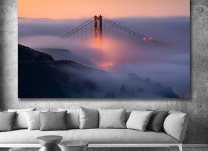 Ljuddämpande Tavla - Golden Gate