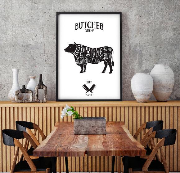 Poster  - Tavla - Butcher Shop