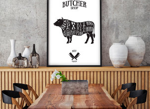 Poster  - Tavla - Butcher Shop