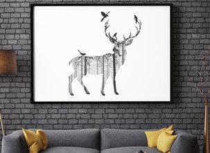 Poster  - Tavla - Deer