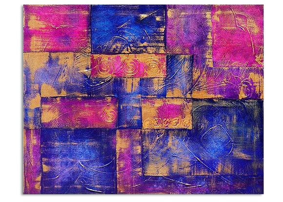 Abstrakt Oljemålning - Purpur