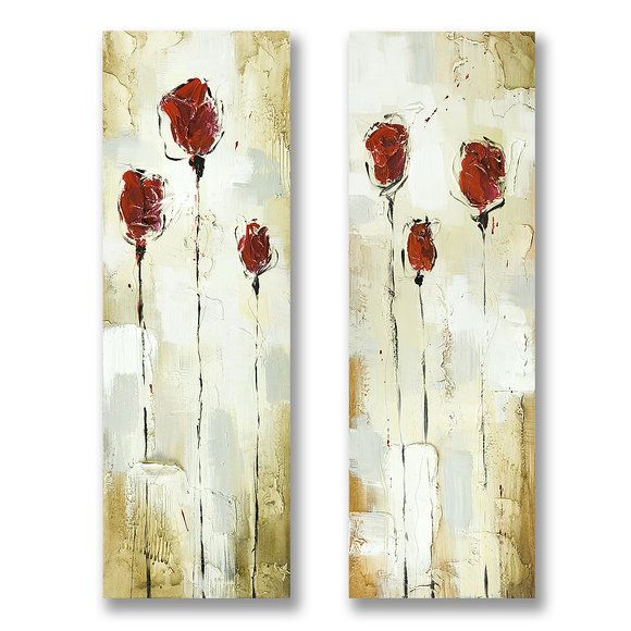Red Roses - Painting - Flowers