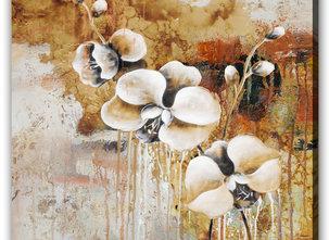Tavla blommor -Beige Orchids